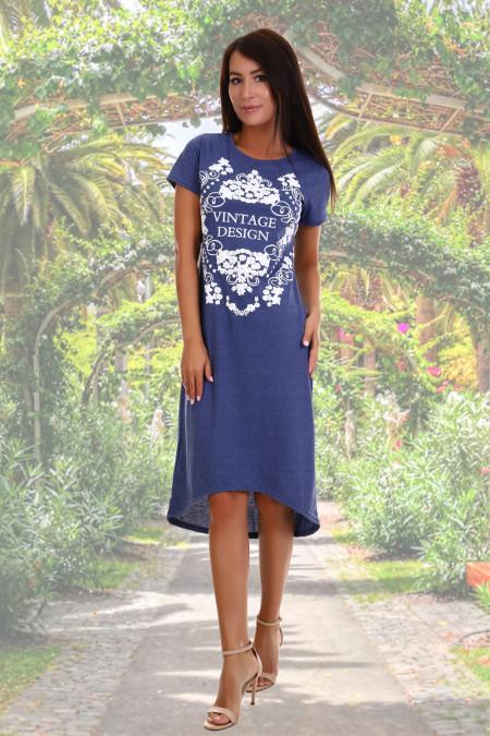 7a55ed96627 Летнее платье женское Монеточка синий купить в интернет-магазине ...